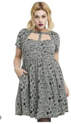 HOT TOPIC PLUS size Harley Quinn relationship dress torrid ...