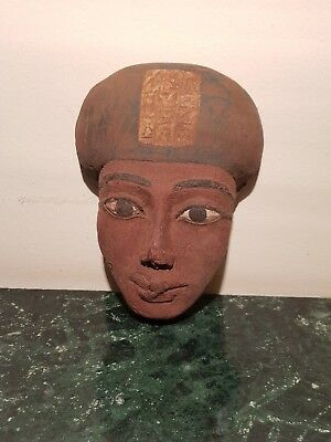 Rare Antique Ancient Egyptian wood Mask King Aye Vizier TutAnkhamun1323–1319BC
