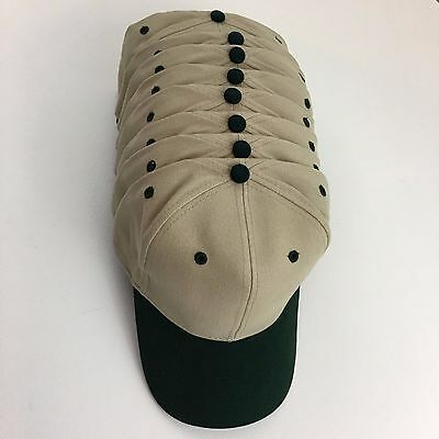 Caps Hats Blanks 8 Brushed Bull Denim Cotton Baseball Khaki & Green Otto 27-008