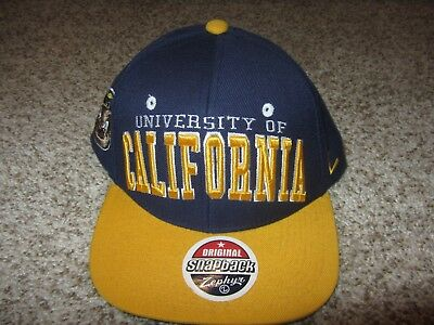 95ef899f00f99 NEW NWT Cal California Bears Zephyr NCAA Football Hat Original Snapback  Navy