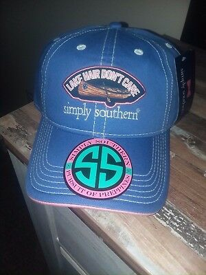 NWT Simply Southern Adjustable Baseball Cap Hat One Size Lake Hair Don't Care