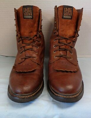 8da4c848ed4 Mens Ariat 10002420 Brown Cascade Lace Up Soft Toe Work Boots 12D