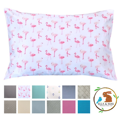 Pink Flamingo Toddler Pillowcase by Ella & Max.  Irresistibly Soft & Cuddly!