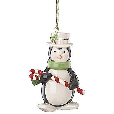 Lenox MERRY LITTLE CHRISTMAS PENGUIN w/ CANDY CANE ORNAMENT New in Box