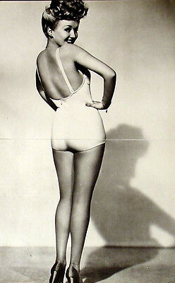 Vintage Betty Grable 2 Page 11 X 16 Pin-Up Poster + Rita Hayworth Awesome Photo