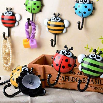 Cute Ladybug Bathroom Wall Hooks Kitchen vacuum Sucker Holder Hook Decor