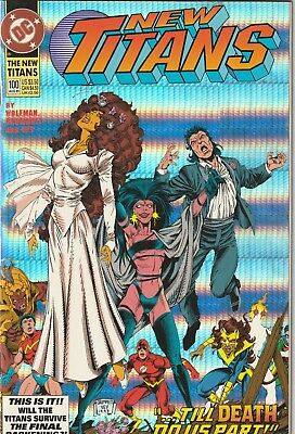 New Titans #100 1993 DC Nightwing & Starfire Marriage Wedding Issue FN/VF