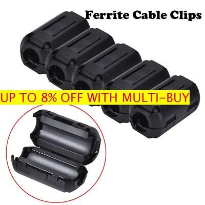 5 Pcs 3.5mm Ferrite Ring Core Noise Suppressor Clip Cable Clip-on Filter