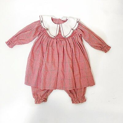 petite ami 24 month smocked christmas dress red gingham w matching pants