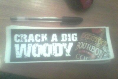woodstock bourbon stickers x 2 (crack a big woody)