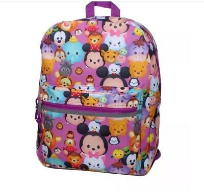 899bd1d306c Disney Pink 16in Tsum Tsum Backpack Mickey Mouse Minnie Donald Goofy New