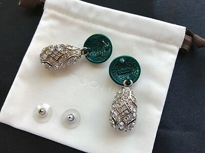 3d0be1a9a ST. JOHN EARRINGS Swarovski Crystal Drop Earrings Designer Jewelry ...