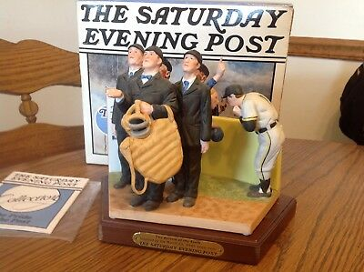 "Saturday Evening Post Norman Rockwell ""The Bottom of the 6th"" Figurine"