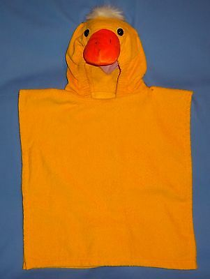 Bath towel-hooded;terry cloth;swim-beach cover up;duck poncho costume;kids 2-4-6