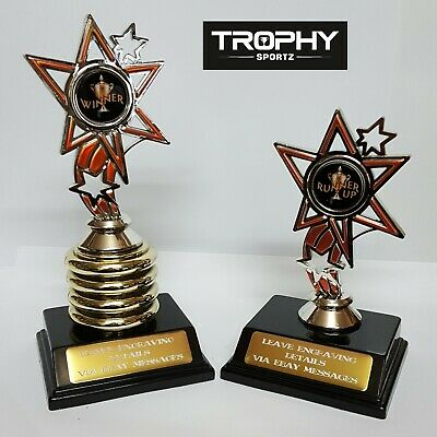 1 X Winner,1 X Runner Up Lacrosse Trophy,combination, Free Engraving