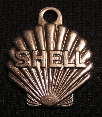 Vintage Shell Oil Key Chain Numbered Return Fob - New York City Nyc Ny