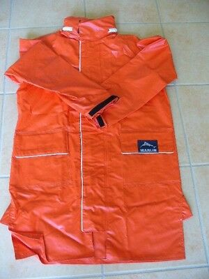 A Vintage Marlin Offshore Sailing Jacket Size XS Orange Very Good Cond