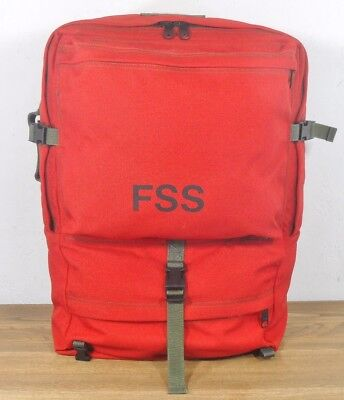 vtg US FOREST SERVICE FIRE FIGHTER RED FSS PERSONAL GEAR BACK PACK BAG camp hike