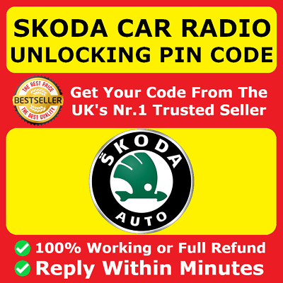 **OFFICIAL** SKODA Radio Code Decode Unlock PIN - ALL MODELS - FAST SERVICE