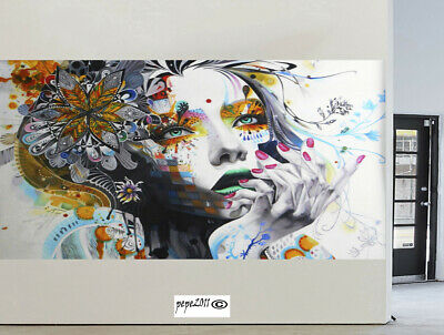 Art Canvas Painting Abstract Modern face Pop  Print Wall Home Decor Australia