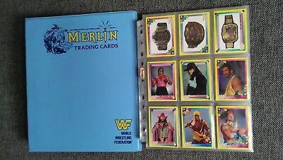 Wwf Merlin Trading Cards Series 1993 Sammelordner + Alle 192 Trading Cards
