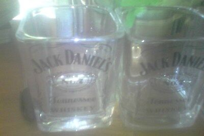 JACK DANIELS glasses (pair) x2