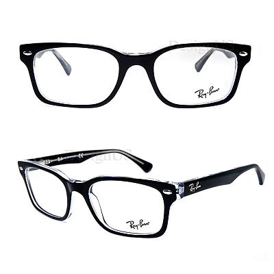 7990a684793 RAY BAN RB 5286 2034 Black on Clear 51 18 135 Eyeglasses Rx - New ...