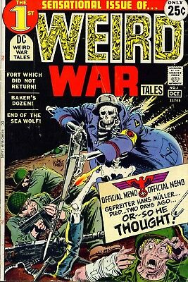 Us Comics Weird War Tales #1-124 Complete Digital Collection On Dvd