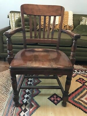 Antique Vintage Solid Wood B.L. MARBLE CHAIR CO. Chair Teacher Banker Lawyer