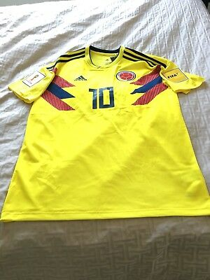 162fb9d47 COLOMBIA FOOTBALL WORLD CUP 2018 HOME SHIRT  10 JAMES RODRIGUEZ JERSEY Size  L