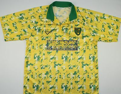1992-1994 Norwich City Ribero Home Football Shirt (Size L)