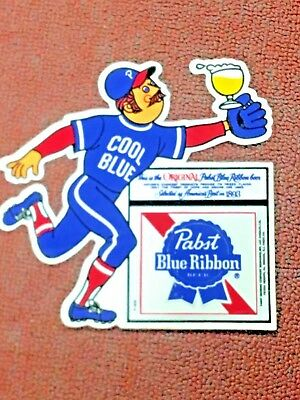 "PABST BLUE RIBBON BEER, COOL BLUE, STICKER, AMERICAS BEST IN 1893, LARGE 6"" x 6"""