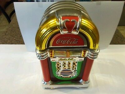 Coca-Cola  Rock N Roll Juke Box Shaped Cookie Jar By Gibson 2002 Displayed Only
