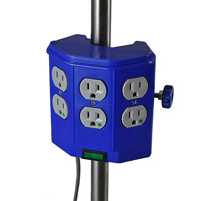 New MCM-232 Power Strip 6 Receptacle I.V. Pole Mounted Hospital Grade UL-1363-A