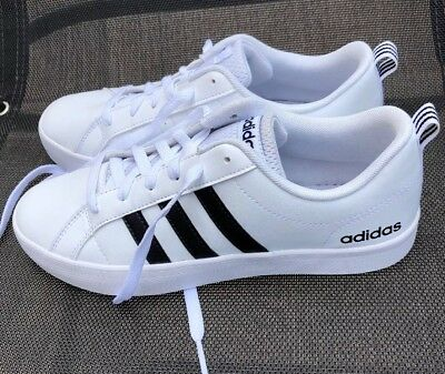 info for 59264 9ee32 Adidas NEO Womens Baseline Casual Sneaker WhiteBlackWhite size 7