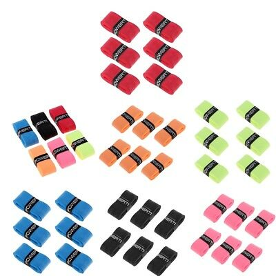 6x Replacement Handle Over Grip Tape Band for Tennis/Badminton/Squash Racket