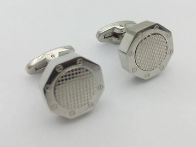Bouton de manchette Audemars Piguet type AP watch Cufflinks royal oak silver