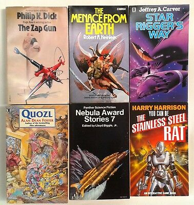 Job Lot of 6 Science Fiction Paperback Books in good condition