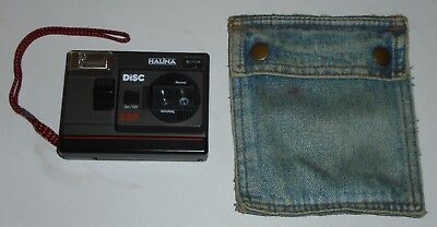 """Halina"" Disc 228 Black Vintage Disc Camera - with Denim Protective Case"