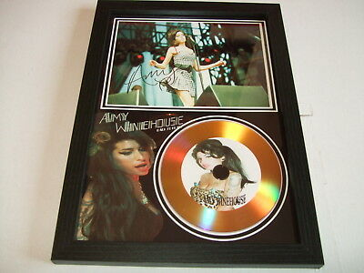 Amy Winehouse  Signed   Gold Disc  Display 98
