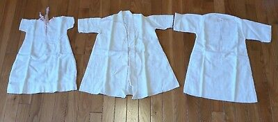 Vintage Flannel Layette Set of 3-Long Kimono & 2 Long Sleeve Gowns