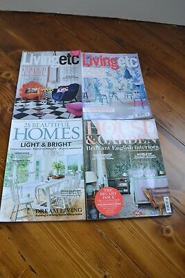 4 x 2017 House mags: Living etc , 25 Beautiful Homes and House & Garden