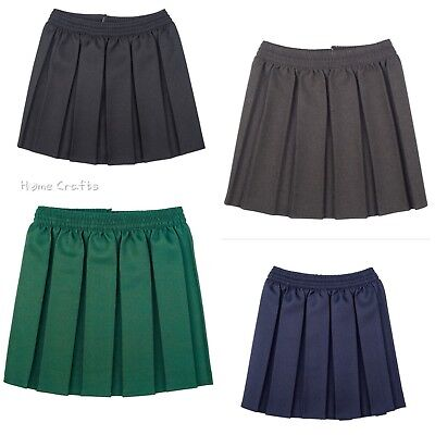 fa9f30686 Girls School Uniform Box Pleated Skirt_Elasticated Waist Kids Age 2-18yrs
