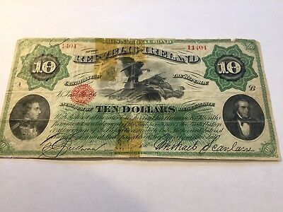 1866 IRISH REPUBLIC $10 Note