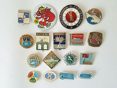 Collection Of 17 Vintage Russian Soviet Lapel Pins