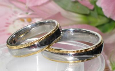Mens  Womens Stainless Steel Wedding Ring Wedding Ring Band  6Mm Str200 Gold