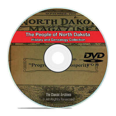 North Dakota ND People, Cities and Towns History and Genealogy 118 Books DVD H37