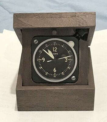 Longines Wittnauer LeCoultre Made 7 Jewel Cal 201M A-11 Aircraft Clock In A Box