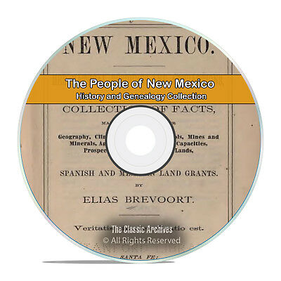 New Mexico, NM, People, Cities and Towns History and Genealogy 215 Books DVD H41