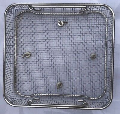 "2 x Steel Sterliziation Trays 10""inch x 9.5""x 2"" Surgical Medical Dental Vet CE"